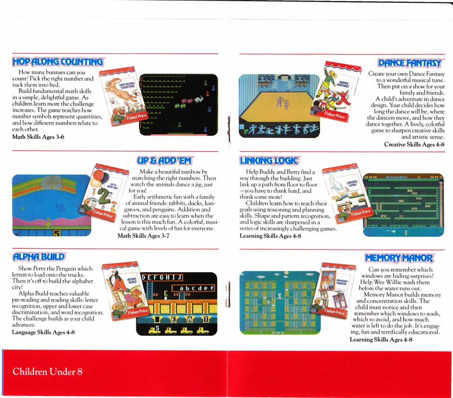 Colecovision Zone Fisher Price Catalog